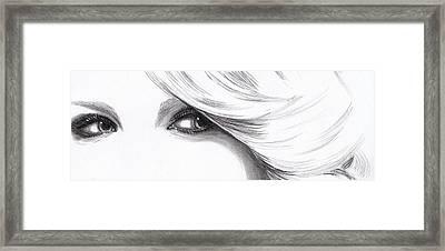 Taylor Swift - Eyes  Framed Print by Furniga Niculina