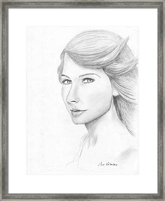 Taylor Swift Sketch Framed Print by M Valeriano