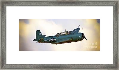 Tbf Avenger  Adventure Framed Print by Gus McCrea