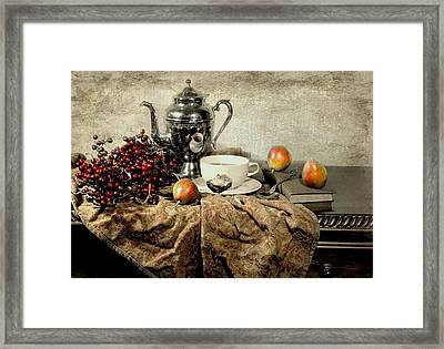 Tea And Berries Framed Print by Diana Angstadt