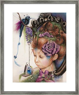 Tea And Periwinkle Framed Print by Sheena Pike