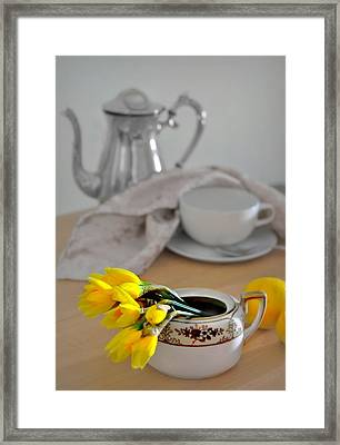 Tea At Four Framed Print by Diana Angstadt