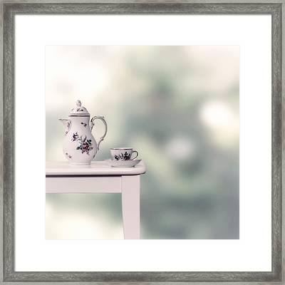 Tea Cup And Pot Framed Print by Joana Kruse