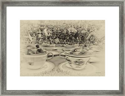 Tea Cup Ride Fantasyland Disneyland Heirloom Framed Print by Thomas Woolworth
