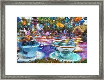 Tea Cup Ride Fantasyland Disneyland Pa 02 Framed Print by Thomas Woolworth