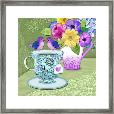 Tea For 2 Framed Print by Valerie Drake Lesiak