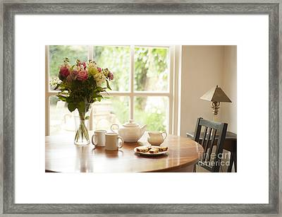Tea For Two Framed Print by Anne Gilbert