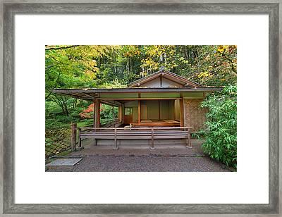 Tea House At Japanese Garden Framed Print by JPLDesigns
