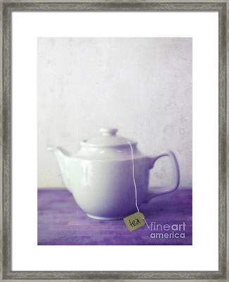 Tea Jug Framed Print by Priska Wettstein