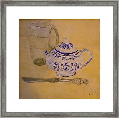 Tea Kettle Framed Print by Aleezah Selinger