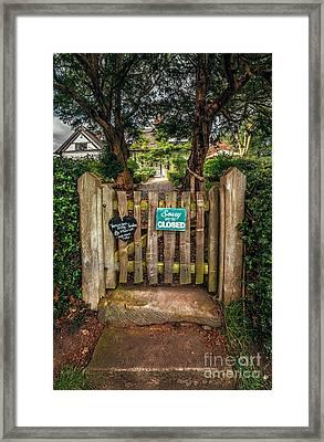 Tea Room Gate Framed Print by Adrian Evans