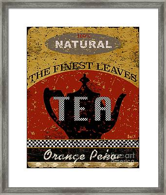 Tea - The Finest Leaves Framed Print by Marilu Windvand