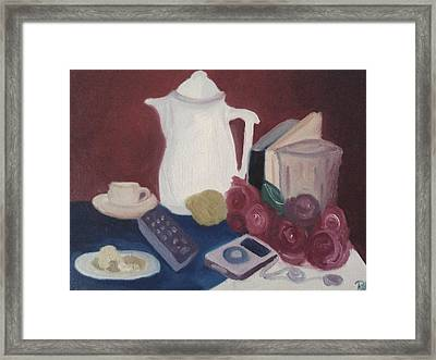 Tea Time Framed Print by Darlene Berger