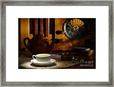 Tea Time Framed Print by Olivier Le Queinec