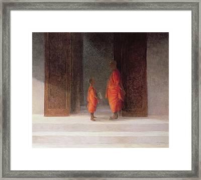 Teacher, 2005 Acrylic On Canvas Framed Print by Lincoln Seligman