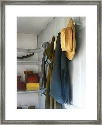 Teacher - Cloakroom Framed Print by Susan Savad