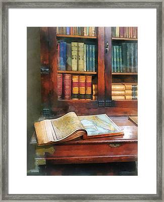 Teacher - Geography Book Framed Print by Susan Savad