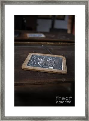 Teacher - Old One Room Schoolhouse Framed Print by Edward Fielding