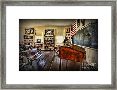 Teacher - One Room School Framed Print by Paul Ward