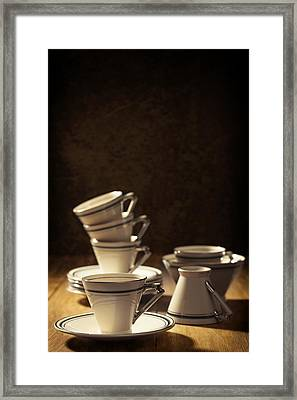 Teacups Framed Print by Amanda Elwell