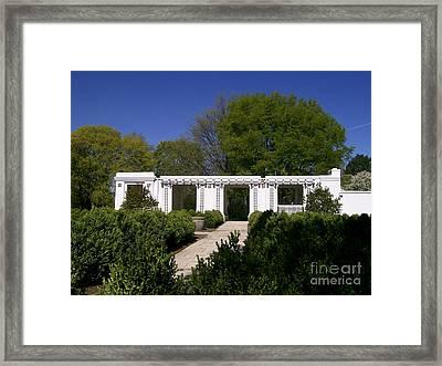 Teahouse At Hurley Gardens Framed Print by Laurie Eve Loftin