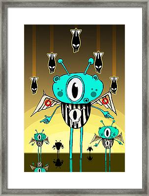 Team Alien Framed Print by Johan Lilja