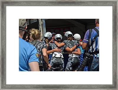 Team Specialized Lululemon Celebrates Framed Print by Lisa Phillips