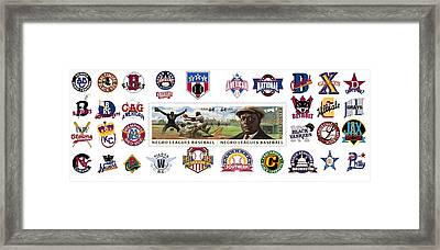 Teams Of The Negro Leagues Framed Print by Mike Baltzgar