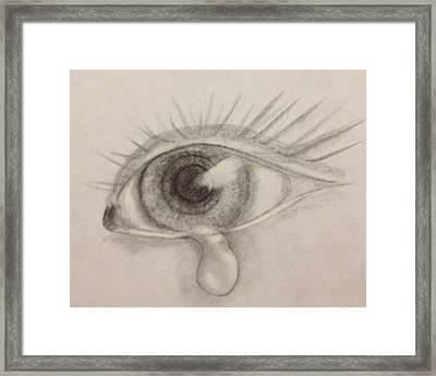 Tear Framed Print by Bozena Zajaczkowska