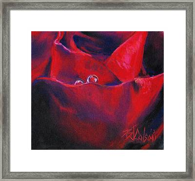 Tear Drops Of Love Framed Print by Billie Colson
