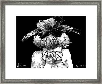 Tears Framed Print by H James Hoff
