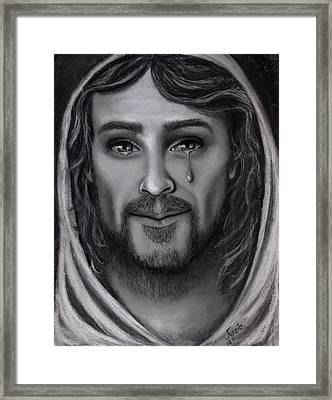 Tears Of Joy Framed Print by Just Joszie