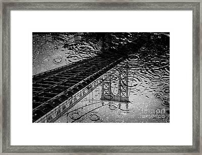 Tears Of New York Framed Print by Az Jackson