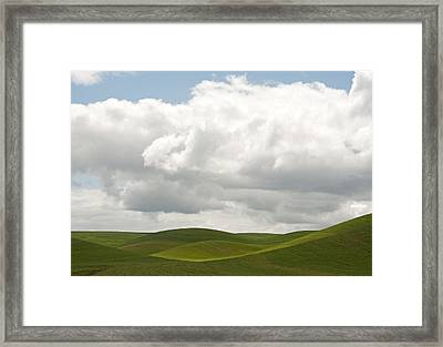 Teasing Clouds Framed Print by Latah Trail Foundation