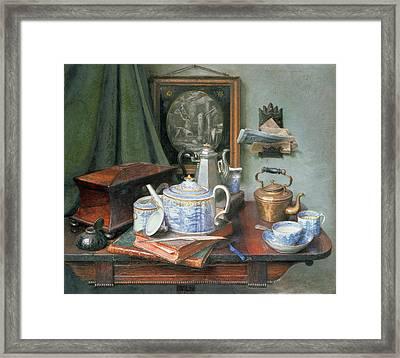 Teatime Framed Print by Edward George Handel Lucas