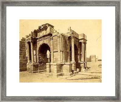 Tebessa, Arc De Triomphe Quadrifrons Caracalla Third Framed Print by Litz Collection
