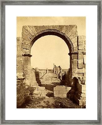 Tebessa Byzantine Basilica, Exterior Door, Algiers Framed Print by Litz Collection