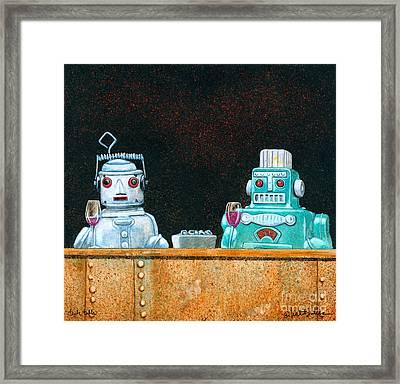 Tech Talk... Framed Print by Will Bullas
