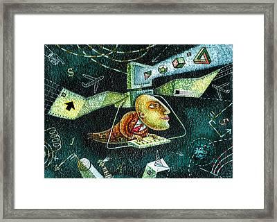 Technology Framed Print by Leon Zernitsky