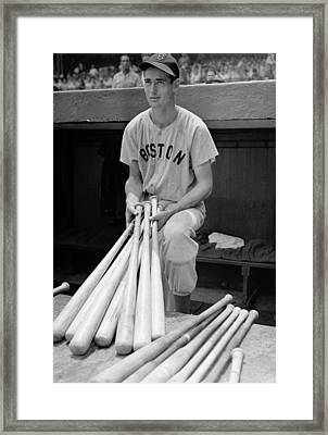 Ted Williams Framed Print by Gianfranco Weiss