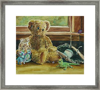 Teddy And Friends Framed Print by Jenny Armitage