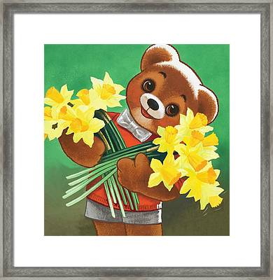 Teddy Bear Framed Print by William Francis Phillipps