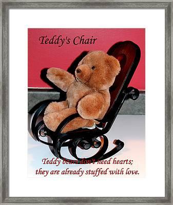 Teddy's Chair - Toy - Children Framed Print by Barbara Griffin