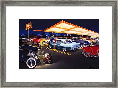Teds Drive-in Framed Print by Bruce Kaiser