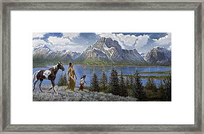 Tee Tons Wyoming Framed Print by Gregory Perillo