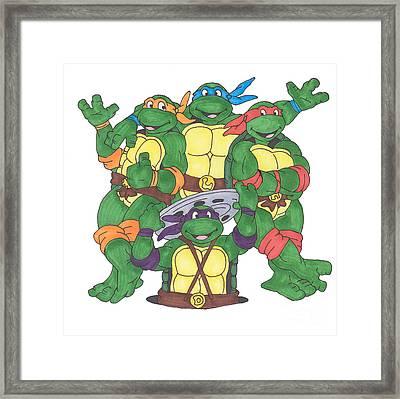 Teenage Mutant Ninja Turtles  Framed Print by Yael Rosen