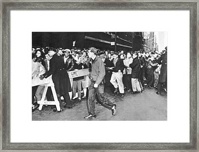 Teenage Rock 'n' Roll Fans Framed Print by Underwood Archives