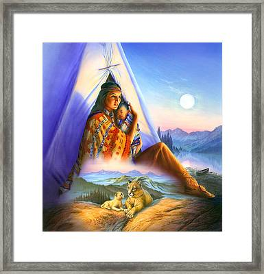 Teepee Of Dreams Framed Print by Andrew Farley
