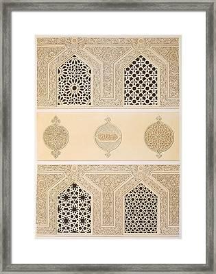 Tekih Cheik Hacen Sadaka, Ie Funerary Framed Print by Emile Prisse d'Avennes