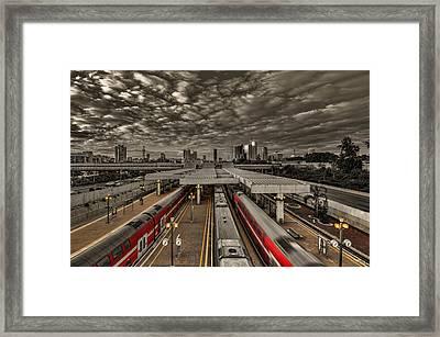Tel Aviv Central Railway Station Framed Print by Ron Shoshani